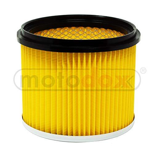 Lamellen Faltenfilter,Trockenfilter gelb mit Stahlinnengitter, Universal Luftfilter, passend für Einhell Nass-Trockensauger TE-VC 2230, TE-VC 1820, BT-VC 1115, RT-VC 1600, RT-VC 1420 uvm.
