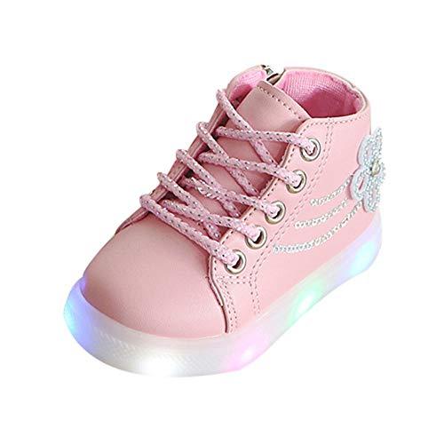 Calzado Deportivo BaZhaHei Zapatos Radiantes Botas Cortas de NiñOs Floral Crystal Led...