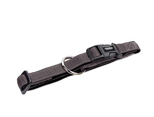 Nobby Soft Grip Collier pour Chien Gris Foncé/Noir 30-45 cm/20 mm