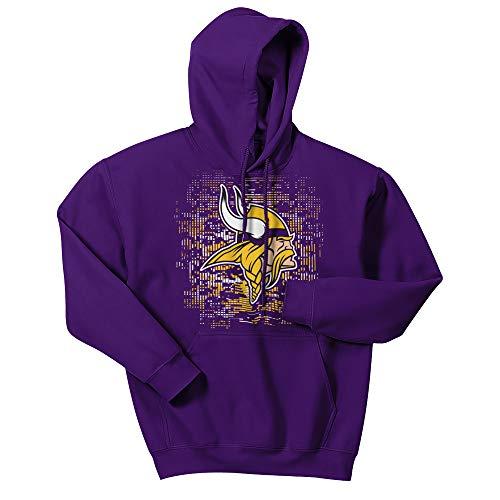 NFL Minnesota Vikings Men's Digital Logo Hoodie, Purple, X-Large