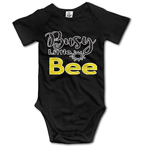 DODOD occupé Little Bee Nouveau-né Unisexe bébé 100% Coton Barboteuse Tenues vêtements de Bain Noir