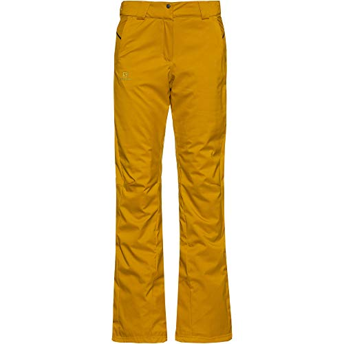 SALOMON Damen STORMSEASON Pant W, Gelb (Golden Palm), S/R