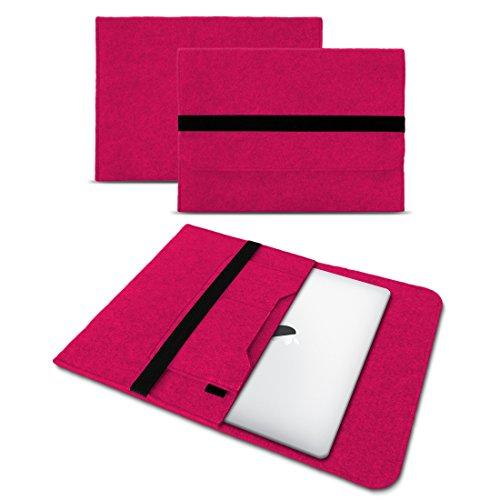 """UC-Express Étui pour ordinateur portable Apple MacBook Air en feutre 33,8 cm (13,3"""") Rose"""