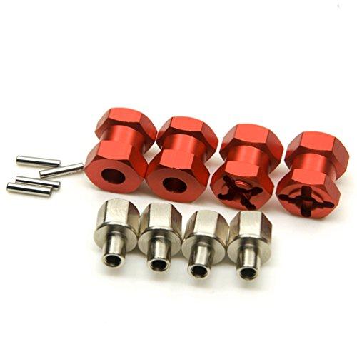 JKshop 4x Upgrade Length 20mm Alloy Hub Hex 12mm for Rc Crawler Scx10 Rc4wd D90