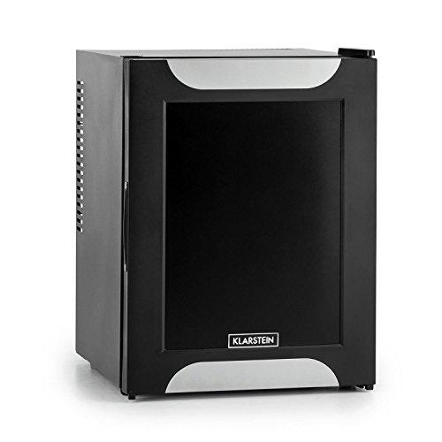 Klarstein Happy Hour Minibar Mini-Kühlschrank Getränkekühlschrank (32 Liter, 33 dB(A) geräuscharm, LED, 5-stufiger Temperaturregler, Dekortür) schwarz