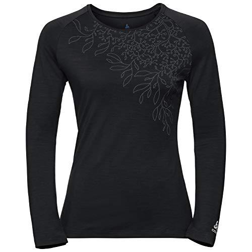 Odlo - Fitness-Longsleeves für Damen in roan rouge-grey melange, Größe S
