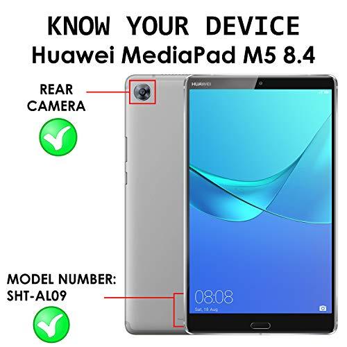 Forefront Cases Huawei Mediapad M5 8 Hülle - Magnetische Hülle und Ständer für Huawei Mediapad M5 8.4 Zoll 2018 Modell - Automatische Schlaf-Wach-Funktion - Dünn Leicht - Schwarz - 3