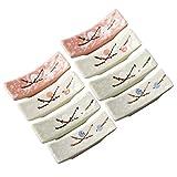 Bestonzon, 8 poggia bacchette, cucchiaio, forchette in ceramica, colore casuale
