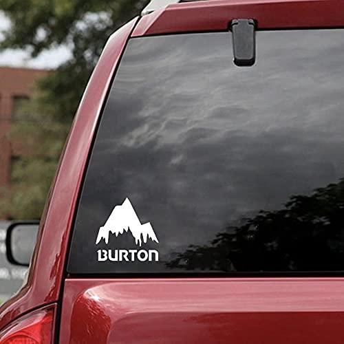 WZZA Hohe Qualität Burton Mountain Ski Snowboards Vinyl Lustige Autofenster Stoßfänger Neuheit Drift Vinyl Aufkleber Aufkleber 16 X 16 cm (Color Name : Silver)