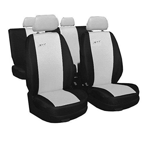 GSC Sitzbezüge Komplettset Sitzbezug für Auto, Universal Hellgrau, XR, kompatibel mit Ford Ka