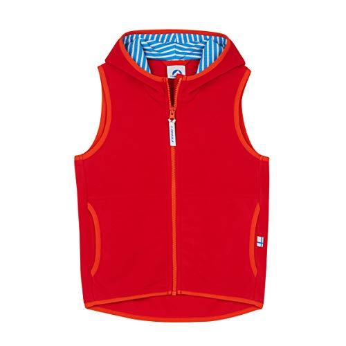 Finkid Poppeli Fleece Vest Kinder red/Grenadine Kindergröße 100/110 2019 Weste