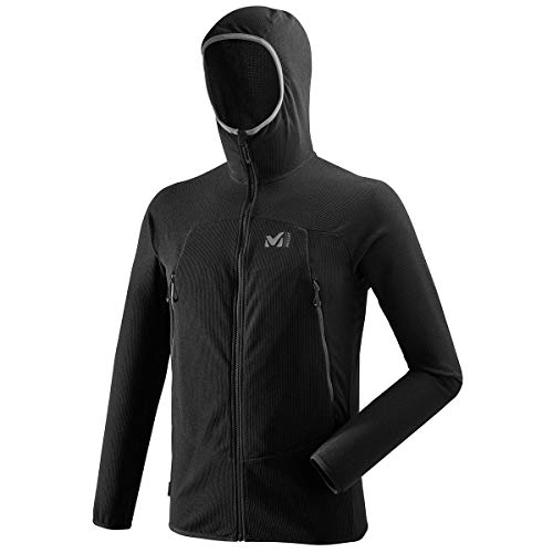 MILLET K Ltgrid HD M Fleece Jacket, Mens, Black-Noir, 42/44