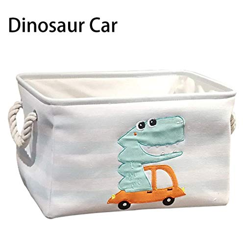 Leuke dinosaurus vouwen wasmand opslag bin speelgoed Wasserij van de baby picknickmand Box Canvas Organizer,vierkant dinosaurussen