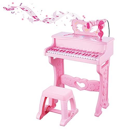 Q-FQRM Órgano | Piano Electrónico para Niños | Instrumento Musical Electrónico de 37 Teclas para...