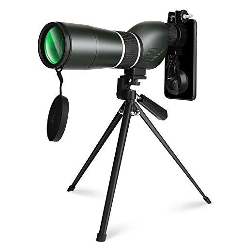 YISSVIC catalejo telescopio 15–45x 60Zoom monocular Impermeable, Lente para visión Nocturna con trípode y Adaptador para móvil para osservazioni ornitologiche ECC