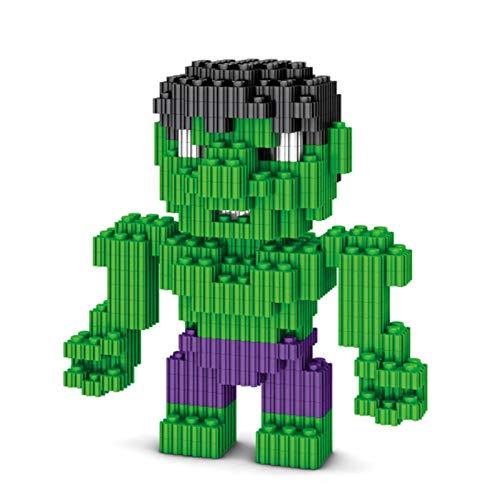 ZEwe Bloques de construcción de partículas pequeños Pop Hulk PVZ Desarrollo de Bloques mentales Bloques de Juguete Modelo Métulo Mini Q Versión Versión Versión Montaje de acción Muñeca de Regalo