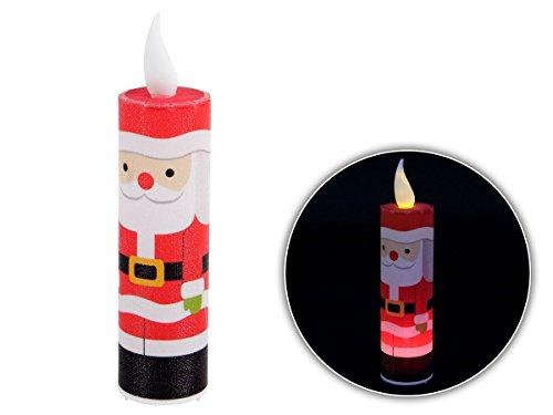 LED Kerze Weihnachtskerze P506015 Weihnachtsdeko Dekoration Nikolaus Kerzen Kabellos von Alsino