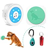 YisTech Dog Doorbell,Dog Bell for Potty Training with Warterproof Touch Button Dog Door Bell Included 1 Receiver and 1 Transmitter