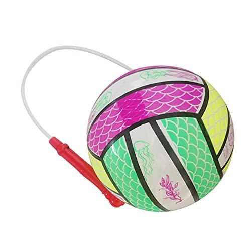 Pelotas de juguete para niños - Pelota de ejercicio inflable portátil y cuerda elástica luminosa Pelotas de rebote en cuerda para aliviar la rigidez Ejercicio de muñeca, Juguetes deportivos para niños
