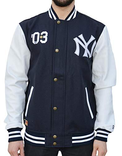 New Era Ne90102fa16 Ct Letterman Neyyan Chaqueta-Línea York Yankees Hombre