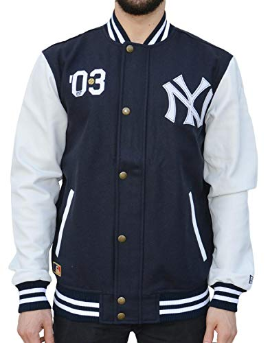 New Era Ne90102fa16 CT Letterman Neyyan Herrenjacke S Blau (Navy)
