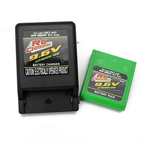 RC CHARGERS Official 9.6 Volt 500 mAH Lithium Ion Rechargeable Battery Pack & Charger