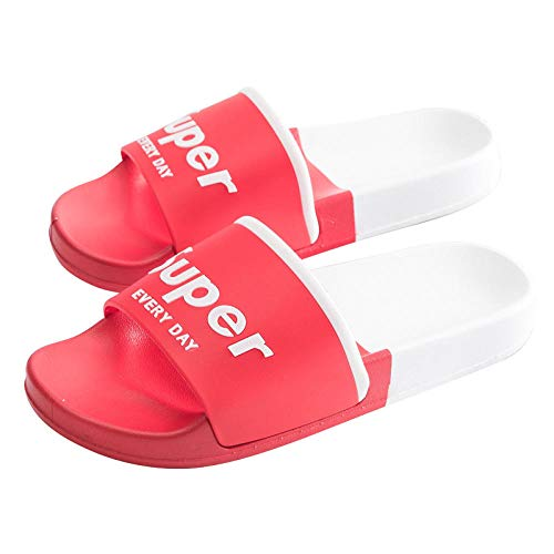 B/H Anti Slip Indoor & Outdoor Home Slippers,Men's and women's bathroom soft bottom slippers, non-slip household massage slippers-red_UK4.5,Great-Looking flip flop