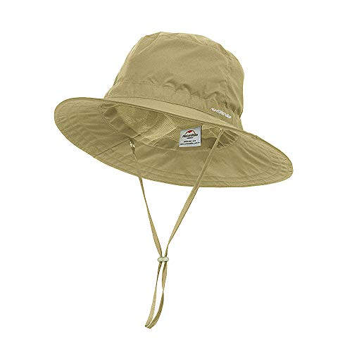 Buy Discount huici Windproof Fishing Hats UV Protection Sun Cap Outdoor Bucket Mesh Hat 56-63cm