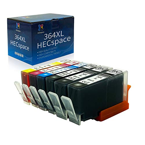 HECspace 364 Cartridges Replacement for HP 364XL Ink Cartridges Compatible for HP Photosmart 5510 5520 5522 5524 6520 7520 b8550 b209a b110a c309 3520, HP Officejet 4620, HP Deskjet 3070A 3520