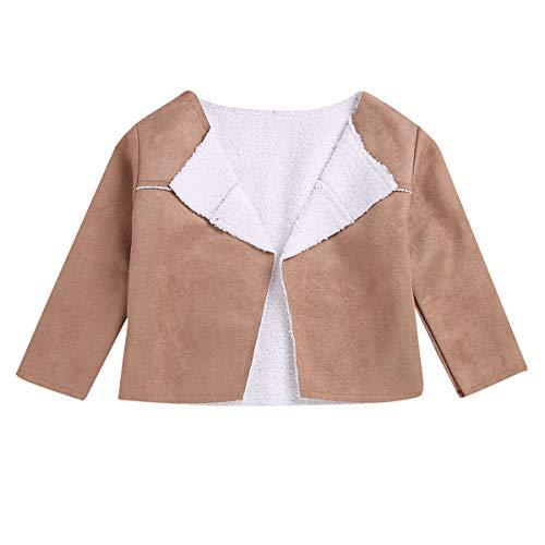 Borlai Fashion Jas voor Baby Jongens Meisjes Herfst Winter Fleece gevoerde Suède Jas, 1-6 Jaar