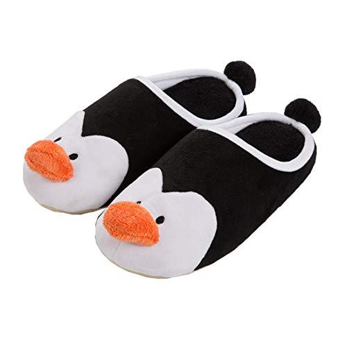 maiqu1983 Männlich Herbst und Winter Pinguin Baumwolle Hausschuhe Pantoffeln Schuhe Warm halten Süß Cartoon (EUR 42-43/UK 7.5-8/US 8.5-9)