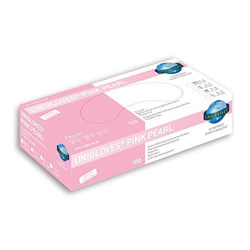 Pink Pearl, Nitril Einmalhandschuh, **PINK**, Puderfrei, Größe S (1x100 Stück)