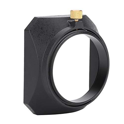 Mugast 49mm Universal Square Lens Hood Shade DV Lens Hood con Montaje de Tornillo para videocámaras DV Cámara de Video Digital Filtro de Lente o Hilo de Barril
