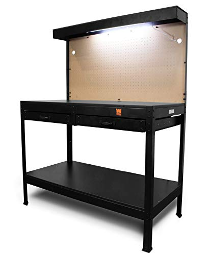 WEN WB4723T 48-Inch Workbench with Power Outlets and Light