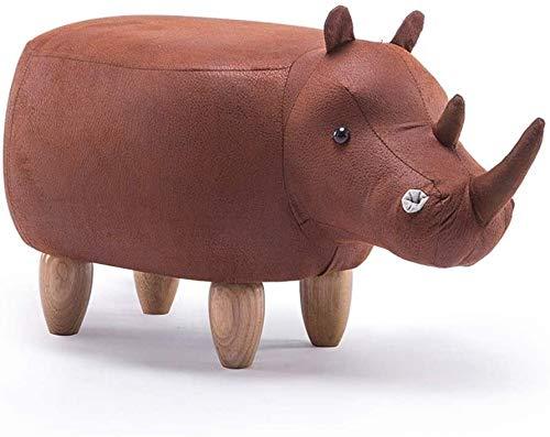 Shoe verandering kruk huishoudelijke opslag kruk Cartoon Rhino Shape Hockers met Soft Seat banken for huis dragen van schoenen Ottomaanse F0106 (Kleur: Donker grijs), Kleur: lichtgrijs Eenvoudige mode