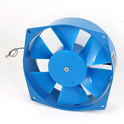 Ventilador de refrigeración de flujo axial de caja industrial DyniLao, CA, 380 V, 65 W, 21 cm x 5 cm, 1 uF, azul