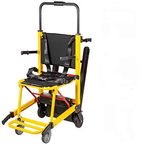 VEVOR Arrampicata su Sedia a Rotelle Monte Escalier Alluminio Ambulanza Trasporto Medico Ascensore Scala Medica Sedia Ambulanza Alumminum Seggiovia Medica (Giallo)