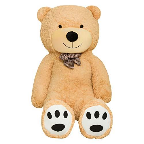 TEDBI Teddybär 180cm | Farbe Hellbraun | Groß XXL Teddy Bear Gigant Plüschbär Stofftier Kuscheltier Plüschtier Größe XL Braunbär Teddi Bär