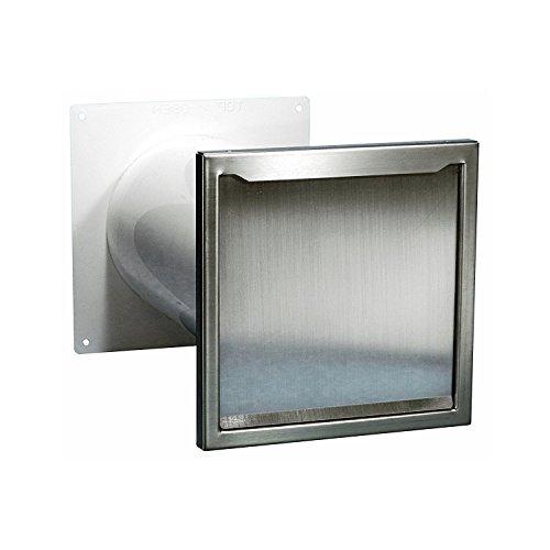 Bielmeier V653400 Dunstabzugshaubenzubehör/Teleskop-Mauerkasten Abluftmaterial mit Edelstahl Außenblende