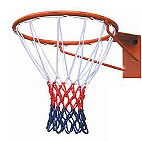 Gyubay Kinder Basketballkorb Basketballständer Basketball Ring Net Bold und Aggravated Tricolor Basketball-Feld Net Standard- Interaktive Spiele für Kinder (Farbe : Multi-Colored, Size : 12 Buckle)