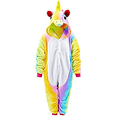MMTX Pijamas de Unicornio Ropa de Dormir de Franela Animal Character Sleepwear, Fancy Dress Up para Playsuit Ropa