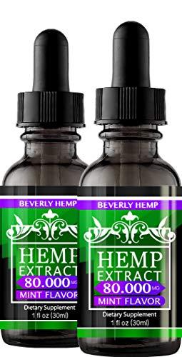 2 Pack Hemp Oil 80.000 MG. Anxiety Reducer. Pain...