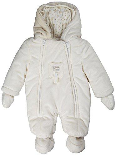 Kanz Baby Overall Winteranzug mit Fäustlinge Frosty Times 0003508, Weiß (snow white), 80