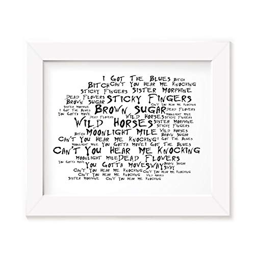 Preisvergleich Produktbild `Noir Paranoiac` Kunstdruck Poster - THE ROLLING STONES - Sticky Fingers - Unterzeichnet und Nummerierten Limitierte Auflage Typografie Ungerahmt 25 x 20 cm (10 x 8 inch) Wand Kunst Druck Text Lyrisch Grafik Plakat - Song Lyrics Art Print Poster