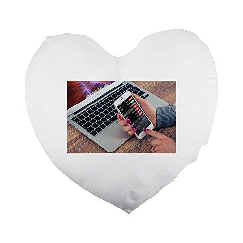 Stock, iPhone, Business, funda para teléfono móvil, con forma de corazón funda de almohada