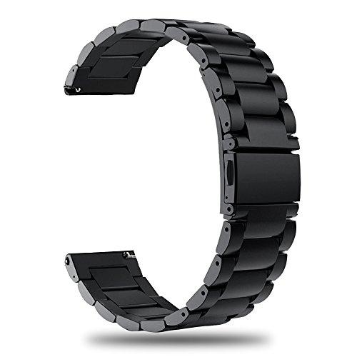 TRUMiRR Compatibile con Galaxy Watch 46mm/Gear S3 Frontier/Classic Bracelet Metallo, 22mm Cinturino per sgancio rapido…