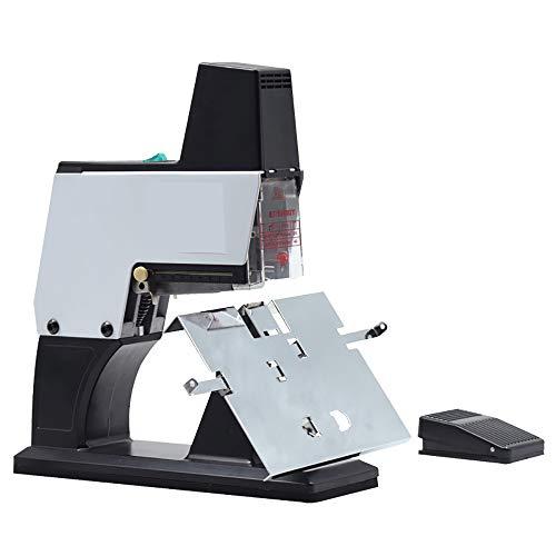 NEWTRY Professionelles elektrisches Heftgerät, automatisch, flach und Sattelbindung, robust, A3 / A4 Größe, Pamphlet Heftgerät, Papierfaltmaschine, mit Fußpedal (220 V Spannung)