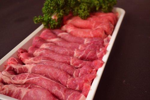 肉屋 豚 焼肉用どさっと1kg 肩ロース スライス 500g×2セット