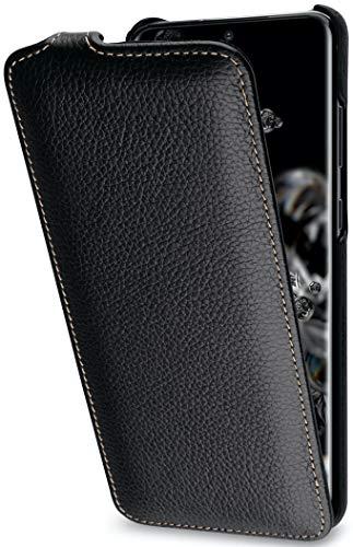StilGut UltraSlim entwickelt für Samsung Galaxy S20 Ultra Hülle - Samsung Galaxy S20 Ultra Flip Hülle aus Leder, Klapphülle, Handyhülle, Lederhülle - Schwarz
