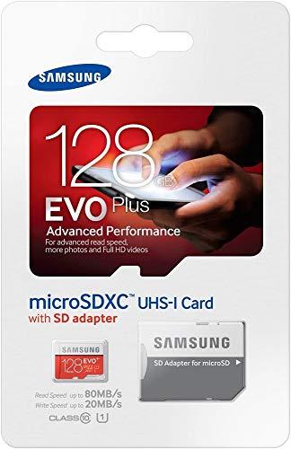 Samsung MB-MC128DA/EU EVO+ Scheda MicroSDXC da 128 GB, UHS, Class 10, Adattatore SD Incluso